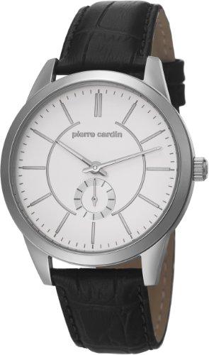 Pierre Cardin TROCA Edelstahl Silber Lederband Schwarz PC106571F01