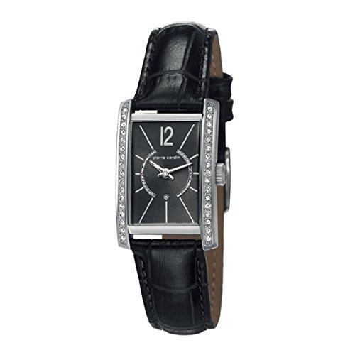 Pierre Cardin Uhr fuer Frauen Lederband schwarz PC106562 F02