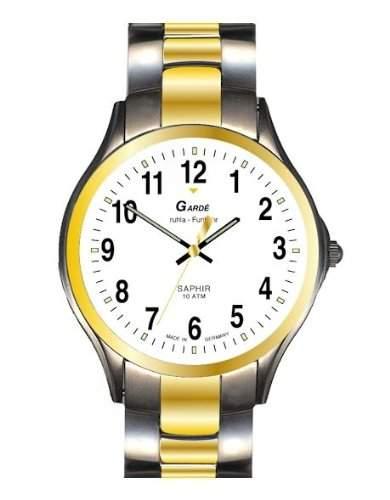 Garde Uhren aus Ruhla Funkuhr mit Saphirglas Herrenuhr 108-36M