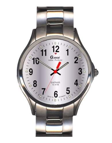 Garde Uhren aus Ruhla Funkuhr mit Saphirglas Herrenuhr 109-26M