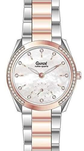 Garde Uhren aus Ruhla Damenuhr IP gold Edelstahl Elegance 21863