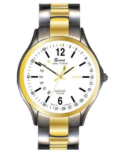 Garde Uhren aus Ruhla Funkuhr mit Saphirglas Herrenuhr 229-36M TagDatum