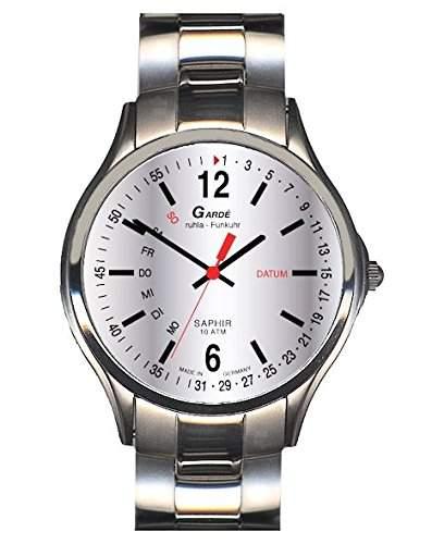 Garde Uhren aus Ruhla Funkuhr mit Saphirglas Herrenuhr 230-26M TagDatum