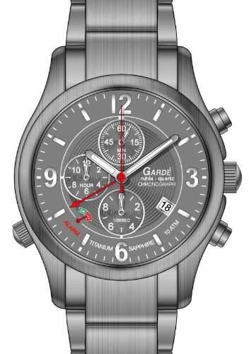 Garde Alarm-Chronograph 91042 Herren Titanuhr, Saphirglas, Superluminova