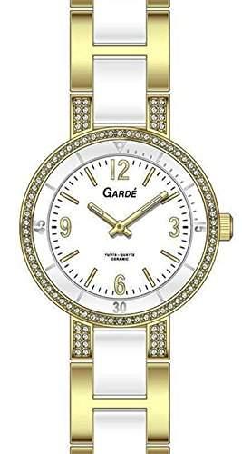 Garde Uhren aus Ruhla Damenuhr Titan  Keramik Elegance 91323