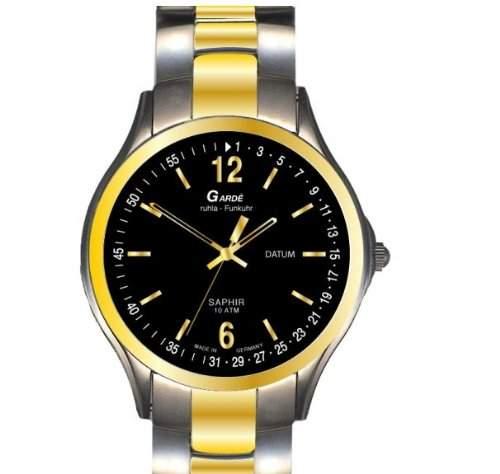 Garde Uhren aus Ruhla Funkuhr mit Saphirglas Herrenuhr 91-36M Datum