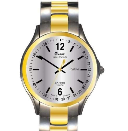 Garde Uhren aus Ruhla Funkuhr mit Saphirglas Herrenuhr 92-36M Datum