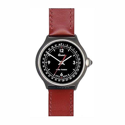 Garde Ruhla Uhren aus Ruhla Damenuhr Funkuhr 72 74 rot mit Datum