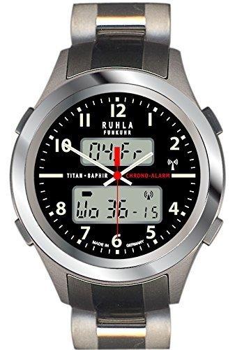 RUHLA Funkuhr Business Alarm Titan Saphirglas 26 17BM
