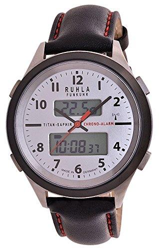 RUHLA Funkuhr Business Alarm Titan Saphirglas 27 17C