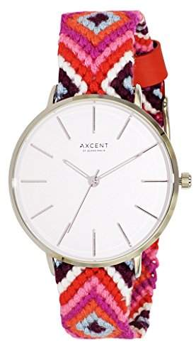 Axcent of Scandinavia Damen-Armbanduhr Inka Analog Quarz Mehrfarbig IX44804-635