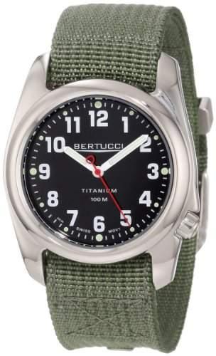 Bertucci Herren 12042 A-2T High Polish Durable Titanium Field Armbanduhr