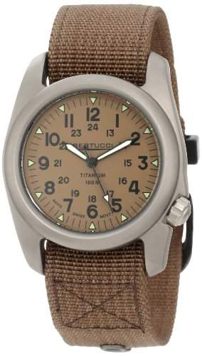 Bertucci Herren 12047 A-2T Vintage Durable Titanium Field Armbanduhr