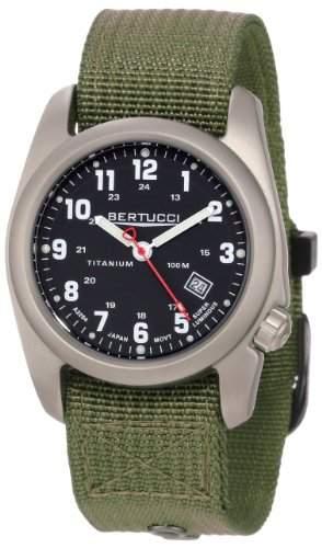 Bertucci Herren 12122 A-2T Original Classics Durable Titanium Field Armbanduhr