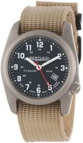 Bertucci Herren 12202 Solid Titanium Field Uhr