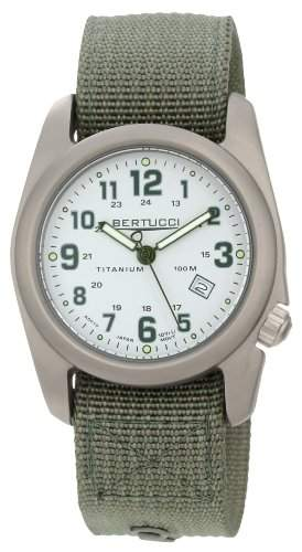 Bertucci Herren 12706 A-2T Field Colors Durable Titanium Field Armbanduhr