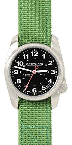 Bertucci 10015 Unisex Edelstahl gruen Nylon Band Schwarz Zifferblatt Smart Watch