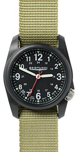 Bertucci 11014 Unisex Greeni Nylon Band Schwarz Zifferblatt Smart Watch