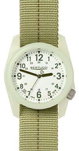 Bertucci 11046 Unisex Patrol gruen olive Nylon Band weiss Zifferblatt Smart Watch