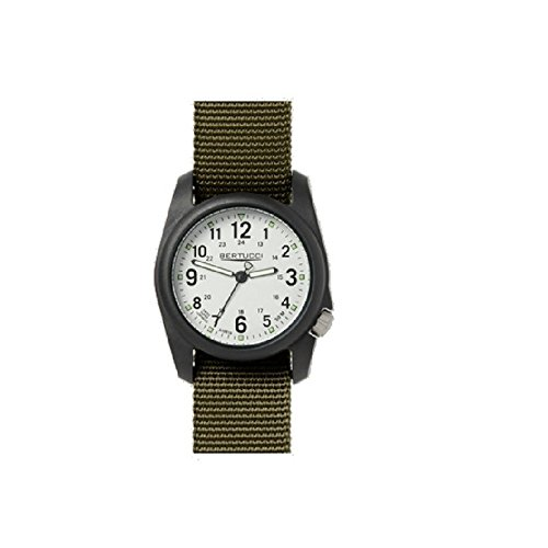 Bertucci 11049 Unisex Olive Nylon Band weiss Zifferblatt Smart Watch