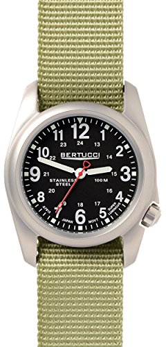 Bertucci 11066 Unisex Patrol gruen Nylon Band Schwarz Zifferblatt Smart Watch