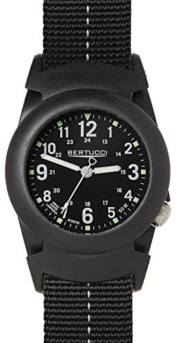 Bertucci 11068 Herren Schwarz Nylon Band Schwarz Zifferblatt Smart Watch