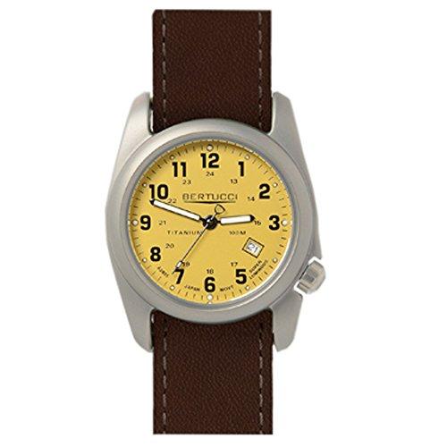Bertucci 12089 braun Lederband Band Khaki Zifferblatt Armbanduhr
