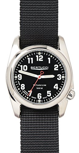 Bertucci 12095 Unisex a 2t schwarz Nylon Band Schwarz Zifferblatt Smart Watch