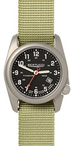 Bertucci 12725 Herren Edelstahl Patrol gruen Nylon Band Schwarz Zifferblatt Smart Watch