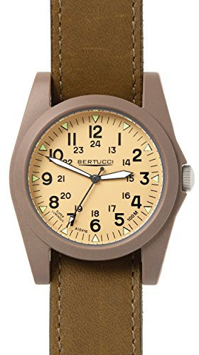 Bertucci 13365 Unisex Polycarbonat braun Nylon Band Patrol Khaki Zifferblatt Smart Watch