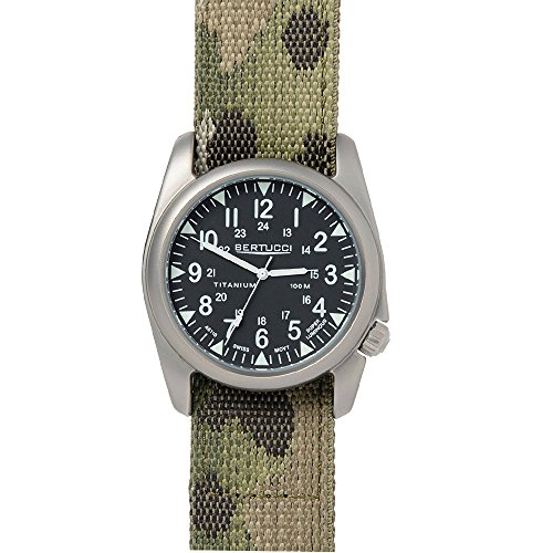 Bertucci 13443 Herren MultiCam Nylon Band Schwarz Zifferblatt Smart Watch
