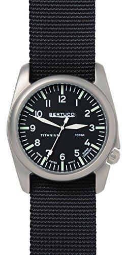 Bertucci 13456 Unisex Edelstahl schwarz Nylon Band Schwarz Zifferblatt Smart Watch
