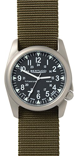 Bertucci 13457 Unisex Defender olive Nylon Band Schwarz Zifferblatt Smart Watch
