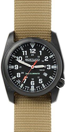 Bertucci 13502 Herren a 5p beleuchtet schwarz Zifferblatt Khaki Nylon Armbanduhr