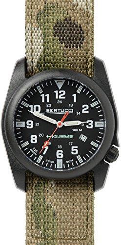 Bertucci 13503 Herren a 5p beleuchtet schwarz Zifferblatt MultiCam Nylon Armbanduhr