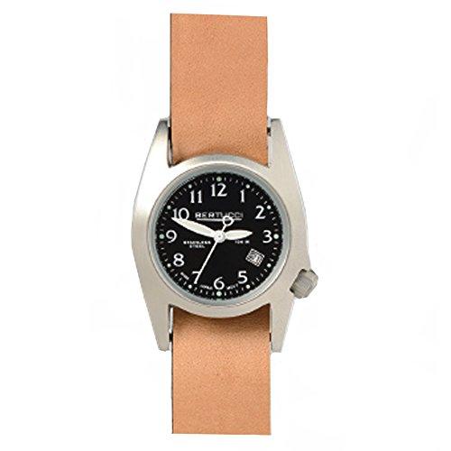 Bertucci 18013 Unisex Edelstahl Tan Leder Band Schwarz Zifferblatt Smart Watch