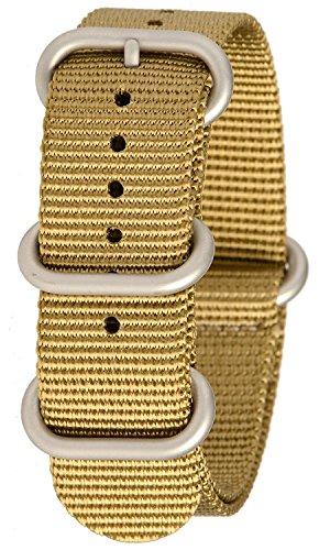 Bertucci b 212 N G10 Herren Schwere Khaki Nylon Smart Watch Band