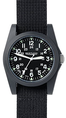 Bertucci A 3P Sportsman Vintage Field Watch Black Black Nylon 13350