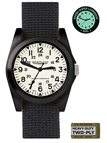 Bertucci A 3P Sportsman Vintage Field Watch Super Lum Black Nylon 13355