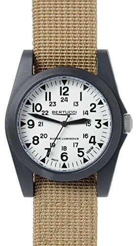 Bertucci A 3P Sportsman Vintage Field Watch Super Lum Khaki Nylon 13357