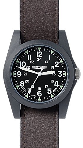 Bertucci A 3P Sportsman Vintage Field Watch Black Briar Leather 13354