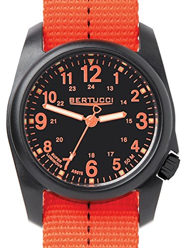 Bertucci DX3 Plus Watch Black Blaze Orange 11042