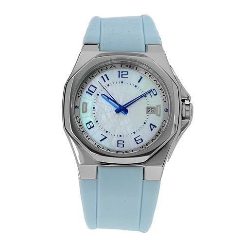 Uhr Officina Del Tempo ot1028 02swlb Kautschuk Armband hellblau