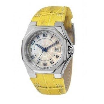 Uhr Officina Del Tempo Leder Armband gelb