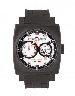 Uhr Officina Del Tempo ot1035 Kautschuk Armband Schwarz