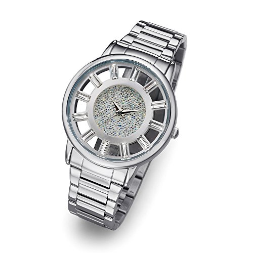 Oliver Weber Uhr Reims silver with Crystals from Swarovski Damen