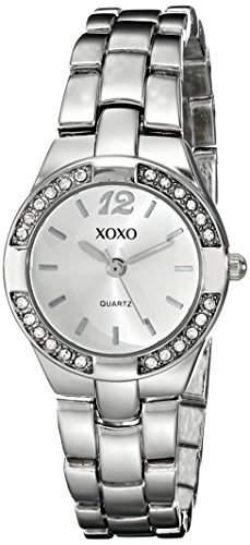 XOXO Damen XO109 Silver Dial Silver-tone Bracelet Armbanduhr