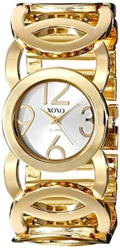 XOXO Damen XO5211 Silver Dial Gold-tone Open Link Bracelet Armbanduhr