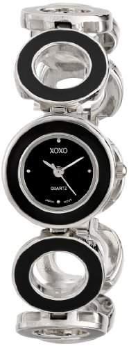 XOXO Damen XO5213 Black Dial Black Enamel Bracelet Armbanduhr