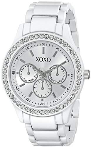 XOXO Damen XO5408 Rhinestone-Accented Armbanduhr